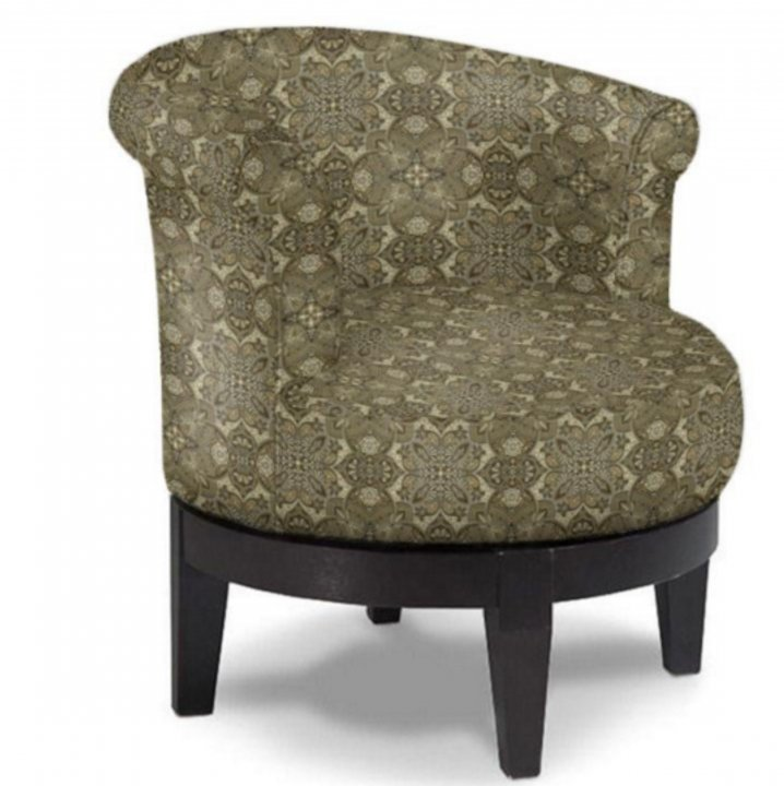 Best Attica Swivel Barrel Chair Custom Fabrics